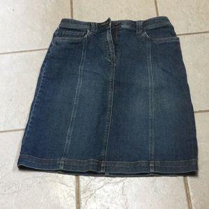 Knee length jean skirt